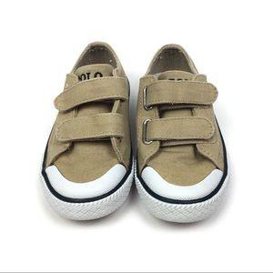 Ralph Lauren Toddler Boys Tan Canvas Sneakers 9
